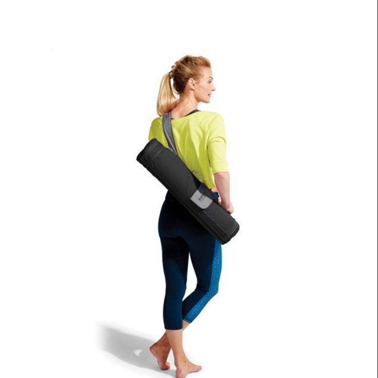 NWT GAIAM Yoga Mat Bag Black Gray