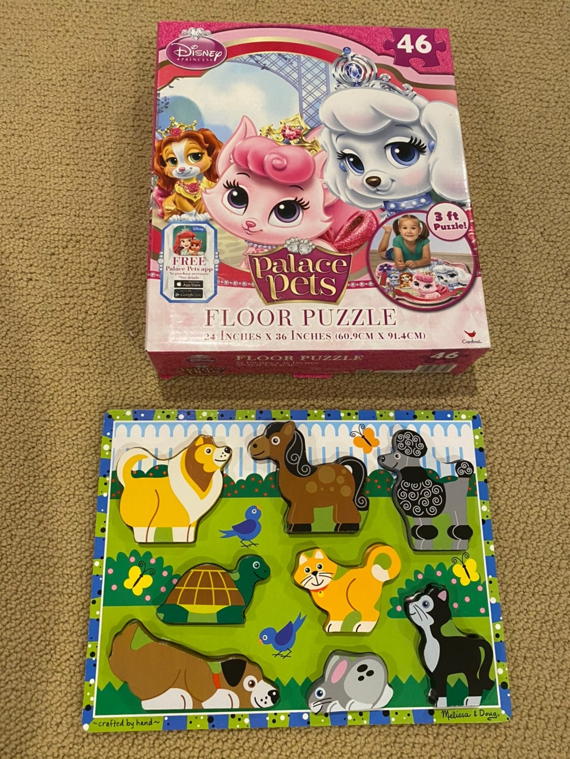 Two Kids Puzzles- Disney and Melissa and