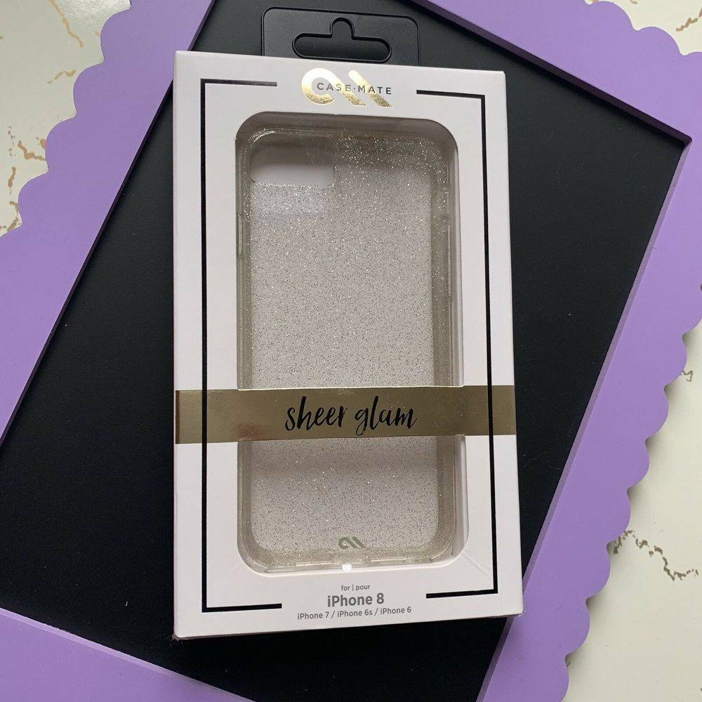 Case Mate Sheer Glam iPhone8 Case Silver