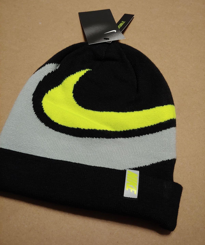 Nike unisex youth reversible beanie hat