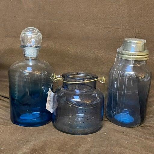 Bullseye Blue Ombre Glassware Decor Set