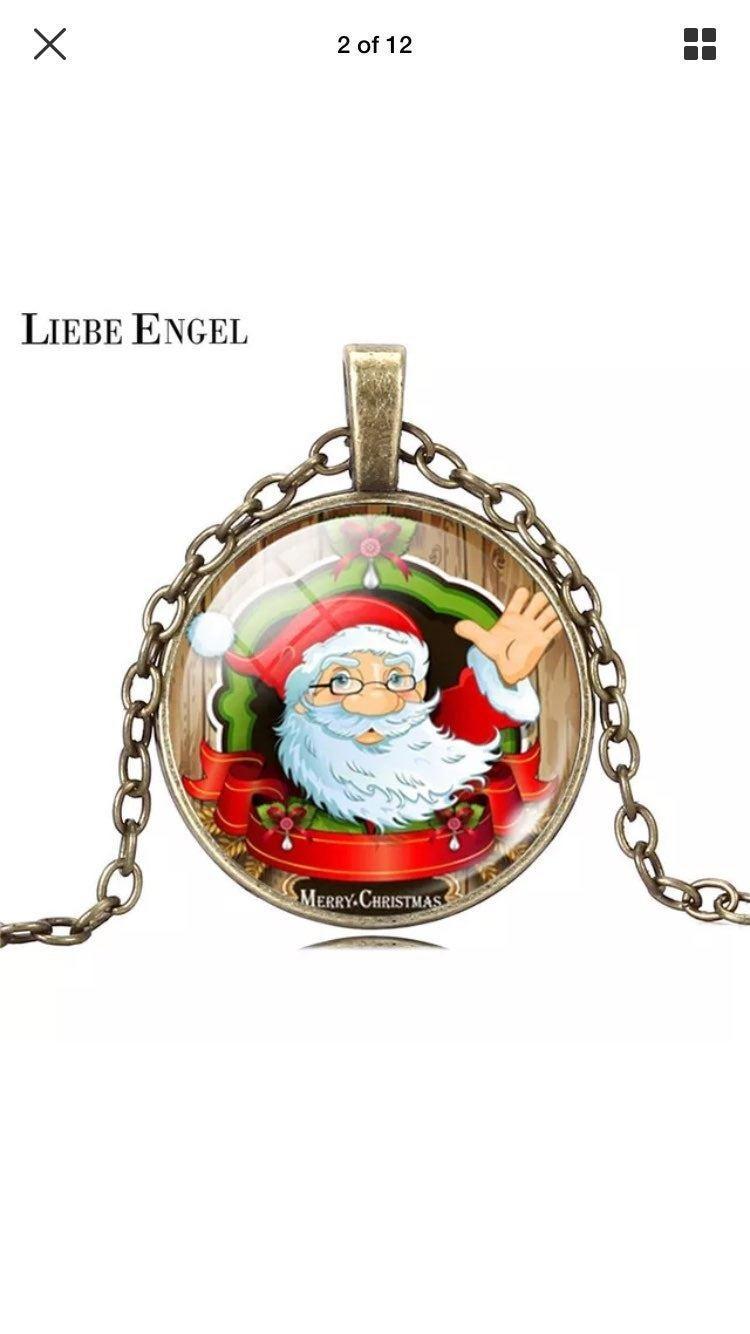 Bronze Chain Santa Claus Necklace