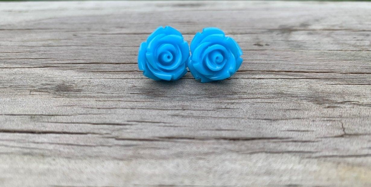 Rose earring studs