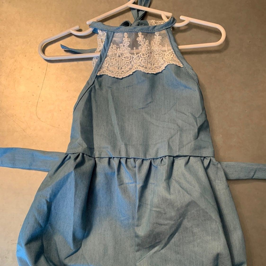 Lace back boutique romper 12-24 months