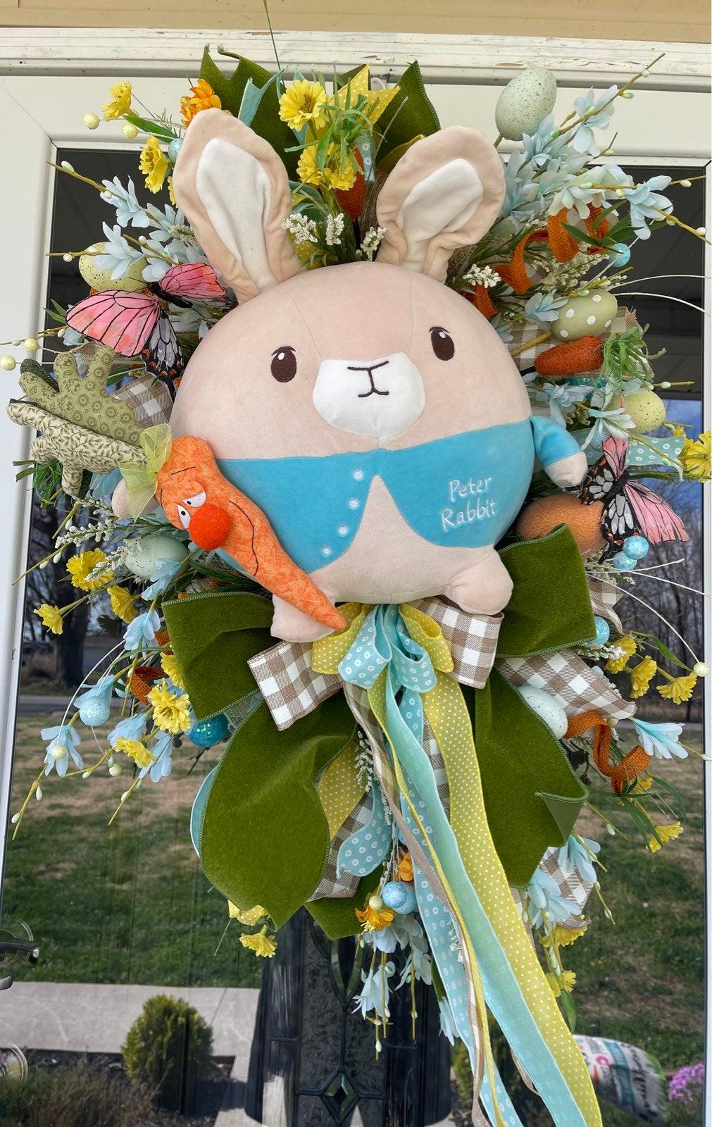 Easter Peter Rabbit Door Swag