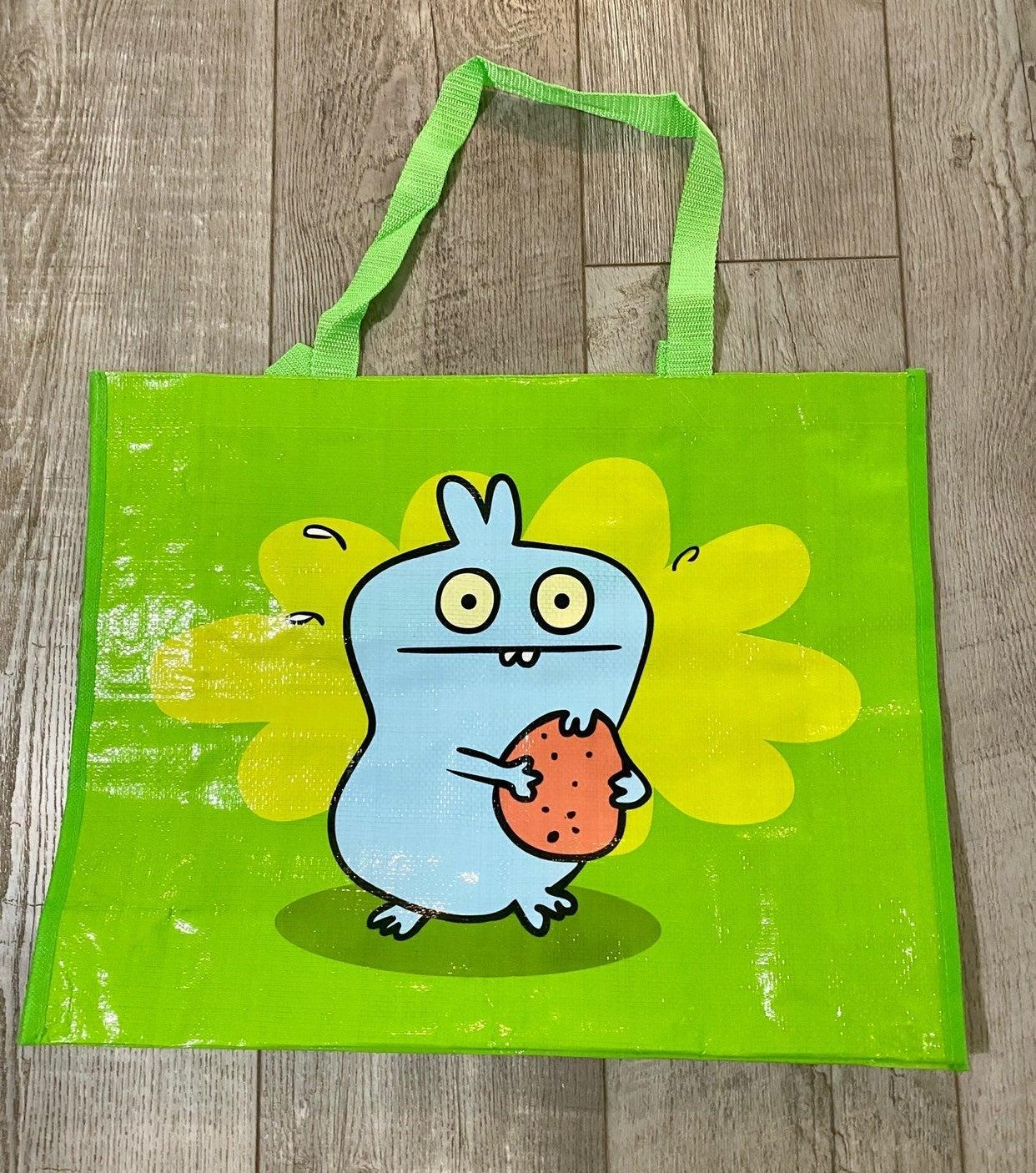 Light Green Uglydoll Tote bag with Babo
