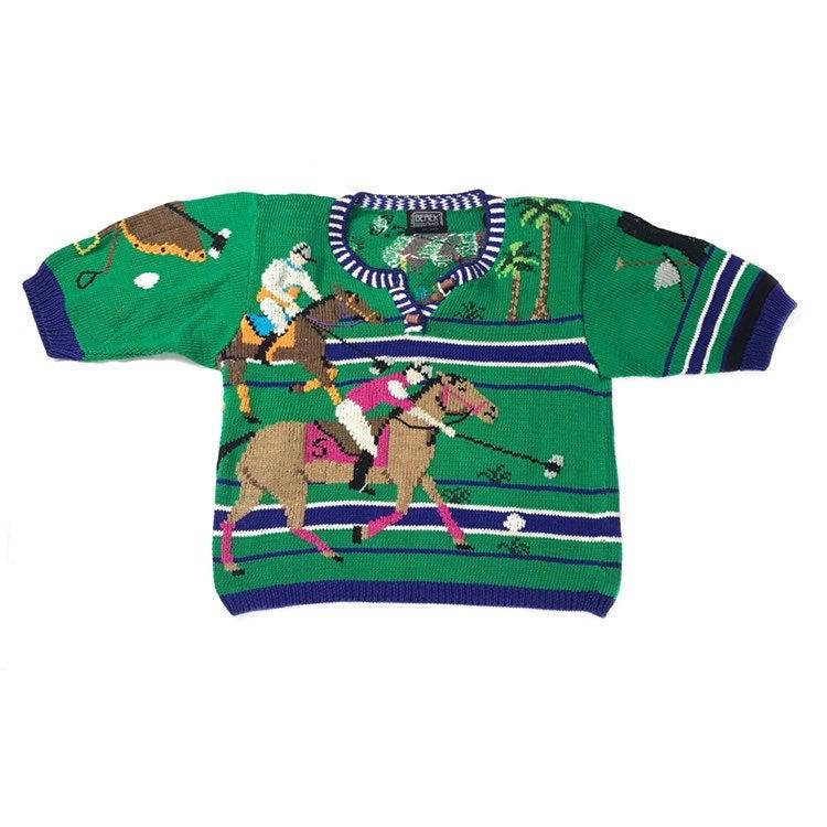 Berek Vintage Polo Horse Knit Sweater