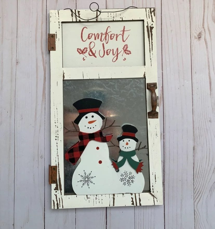New Snowman hanging door decor