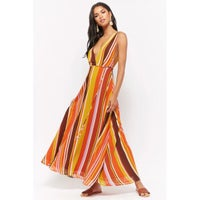 5743d2fbe61 Forever 21 Multicolor Striped Maxi Dress