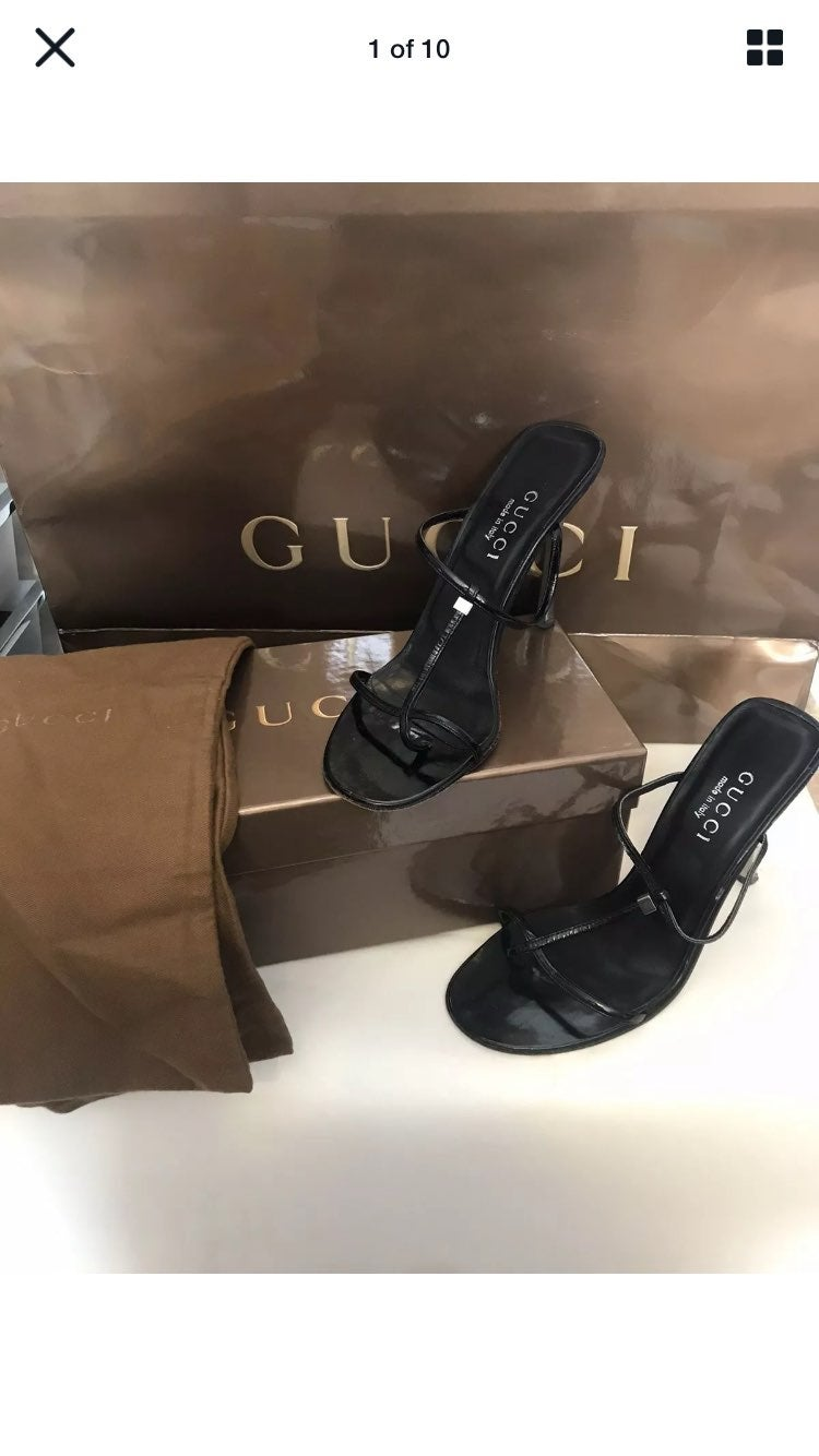 Authentic Gucci leather Heels