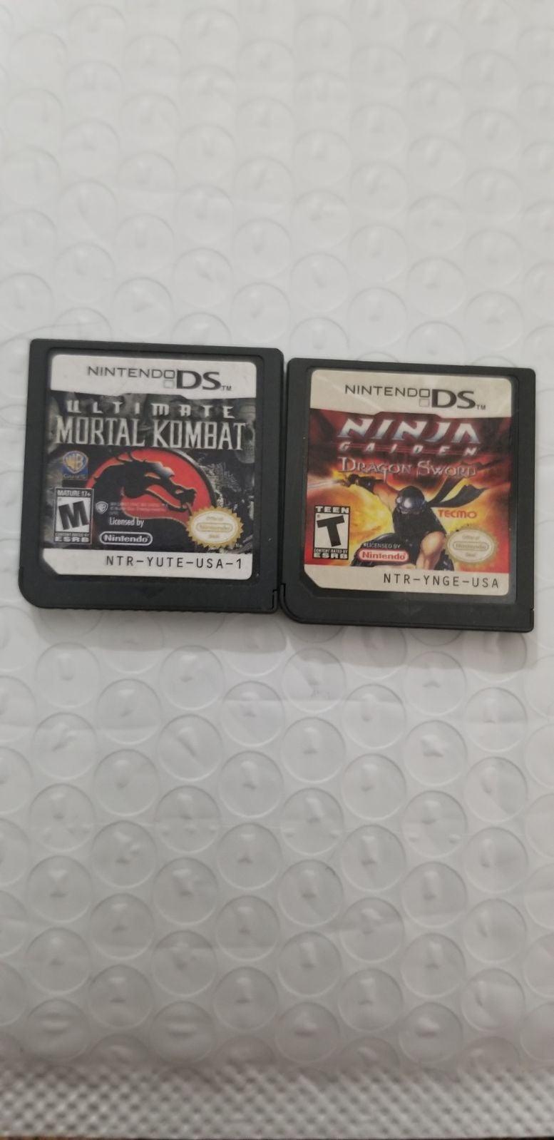 Mortal kombat,ninja gaiden Nintendo ds