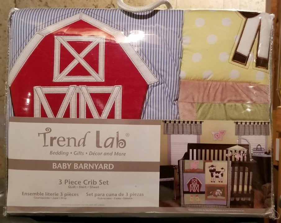 Baby Barnyard 3 piece crib set