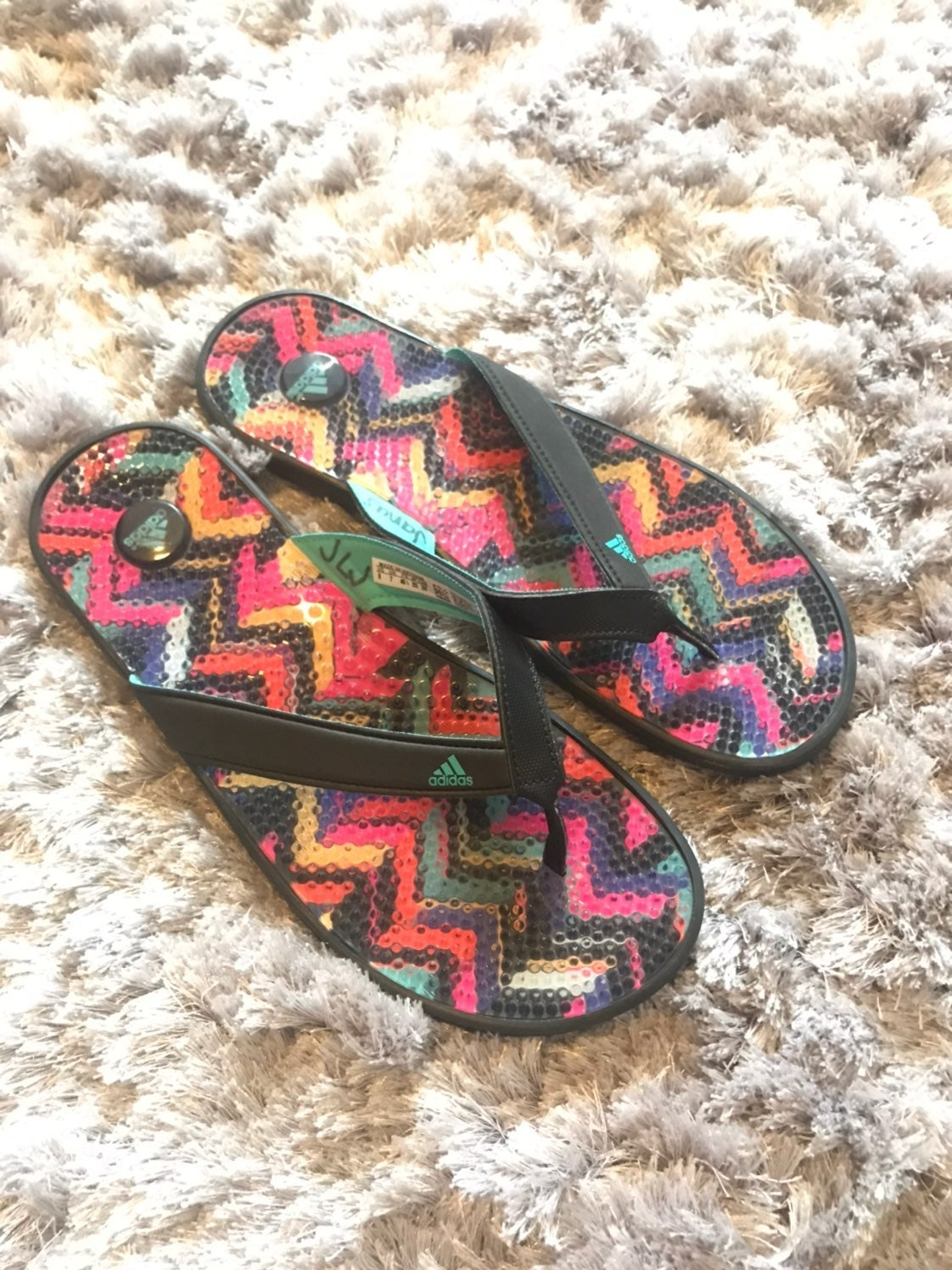 Adidas Multi Color Thong Sporty Sandals