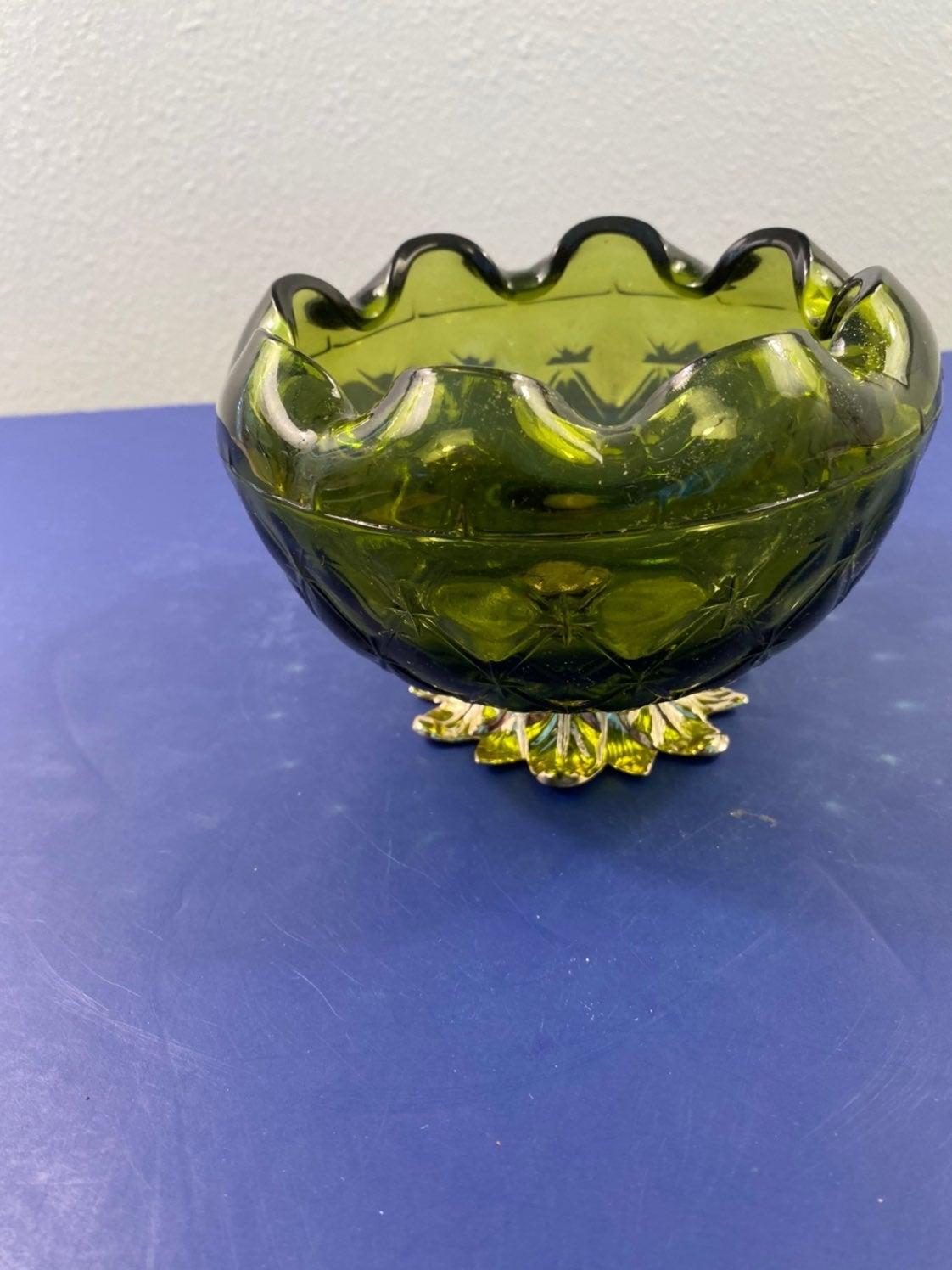 Princess House Green Dish Fluted Bowl