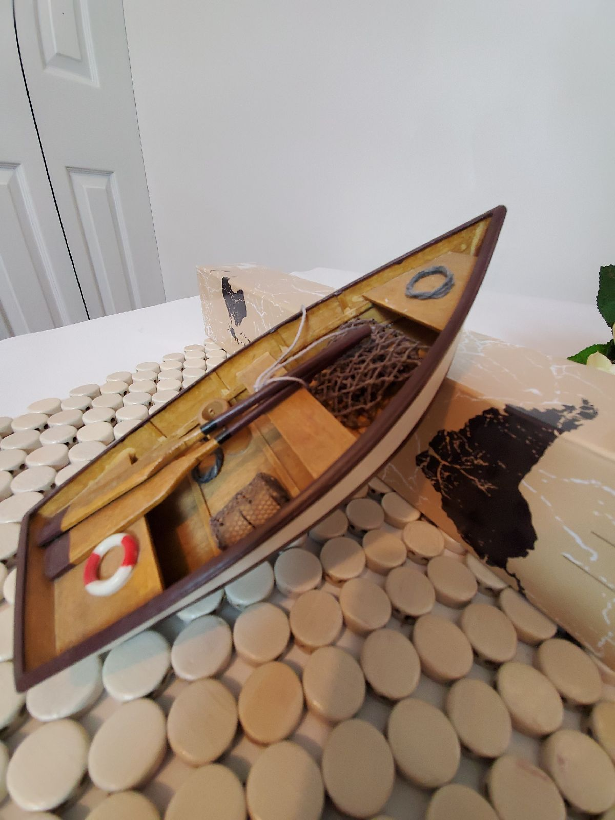 Vintage Wooden Canoe Collectible
