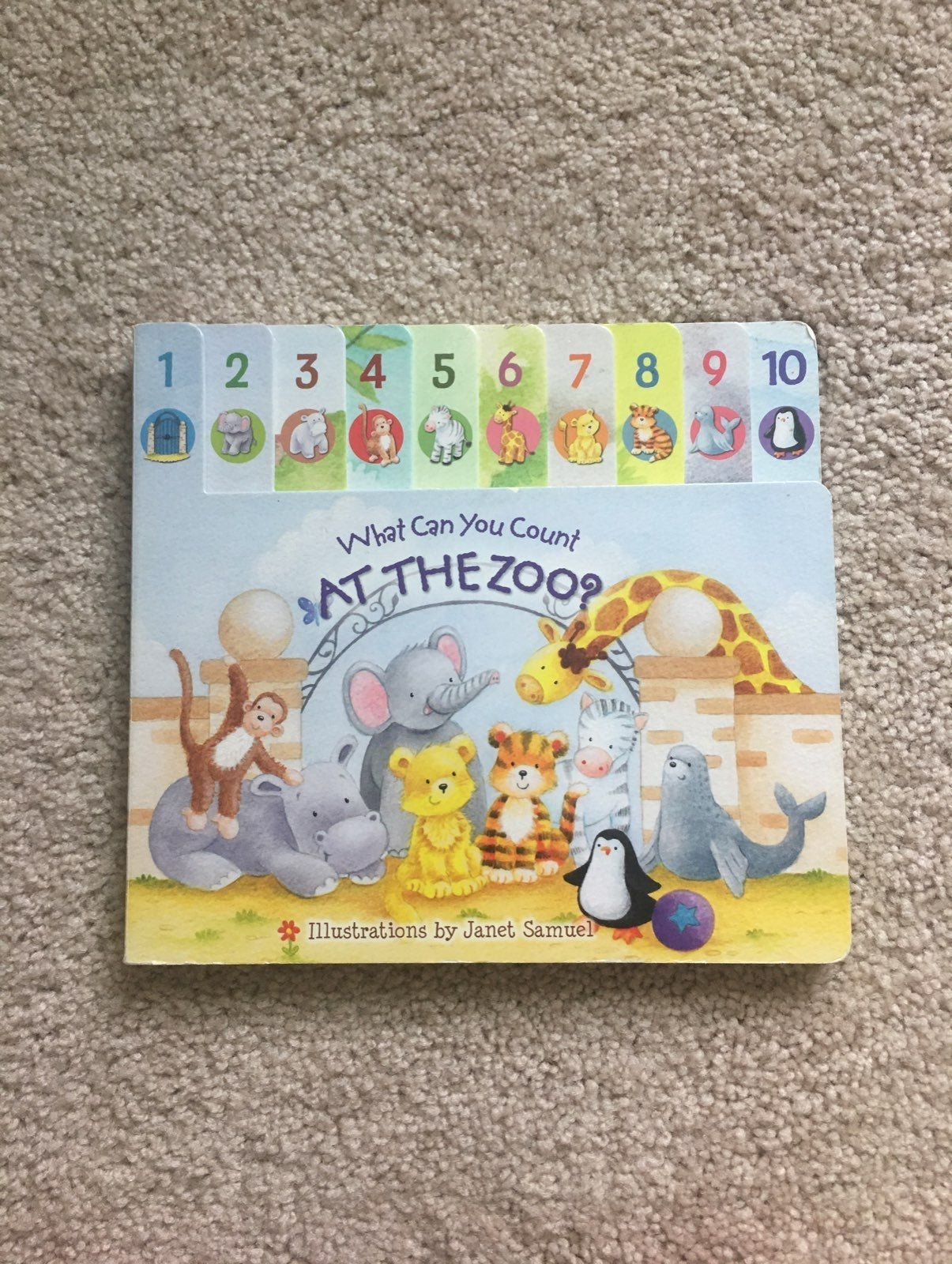 Baby counting zoo board book
