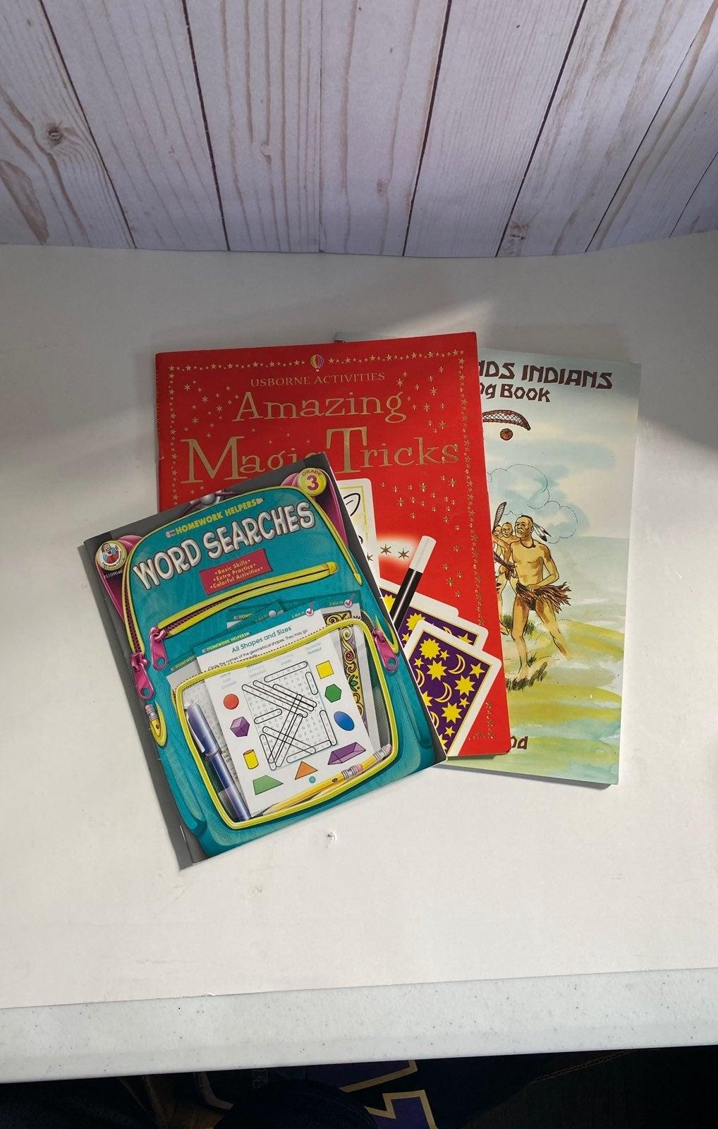 3 Kids activity books