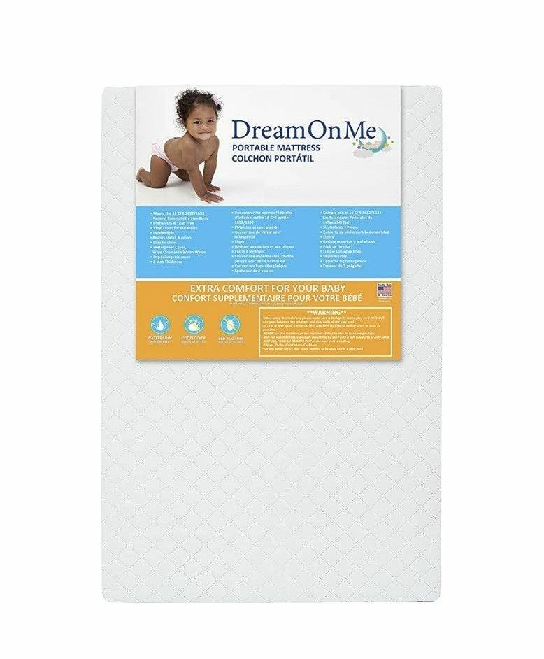 "Dream On Me 3"" Portable Crib Mattress"