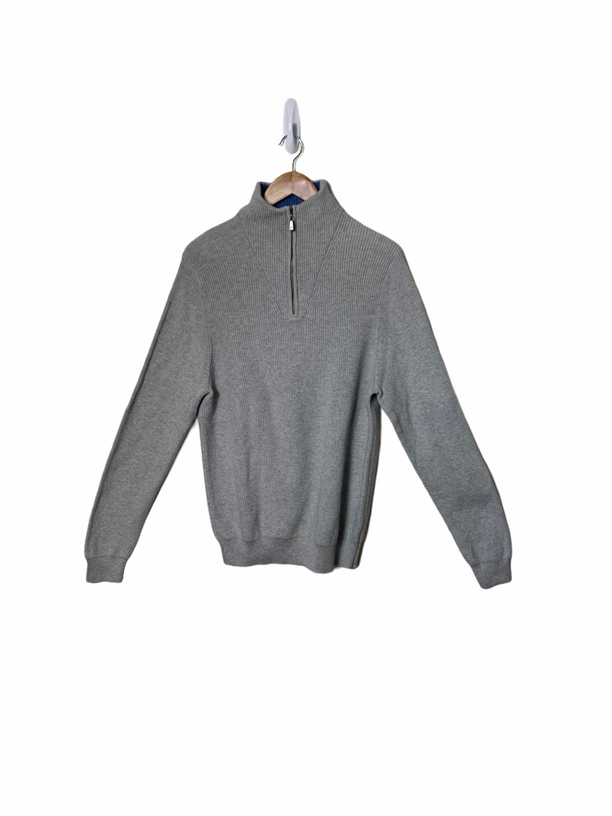 Brooks Brothers 1/4 Zip Ribbed Knit Mock