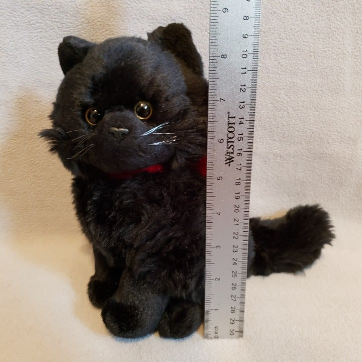 "8"" Russ Shadow Black Cat Plush"