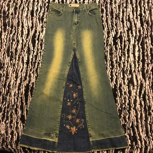 Crest Jeans Maxi Denim Skirt 7/8 NWT