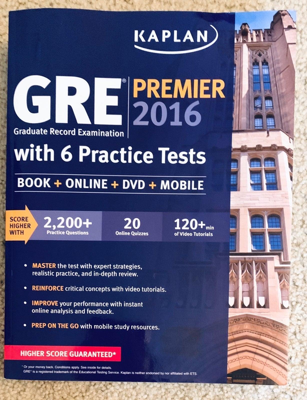 Kaplan Gre Premier 2016: 6 Practice+DVD