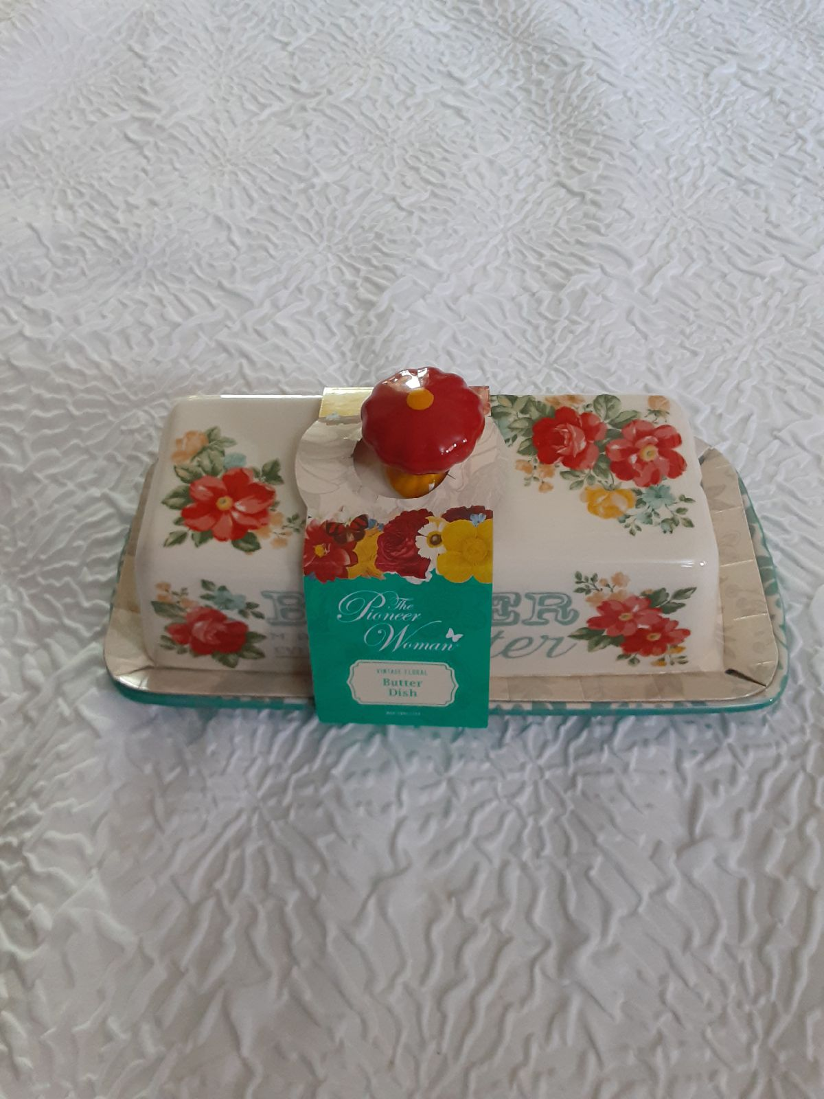 Pioneer Woman Vintage Floral Butter Dish