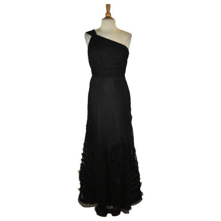 Kay Unger Gown 12 Black