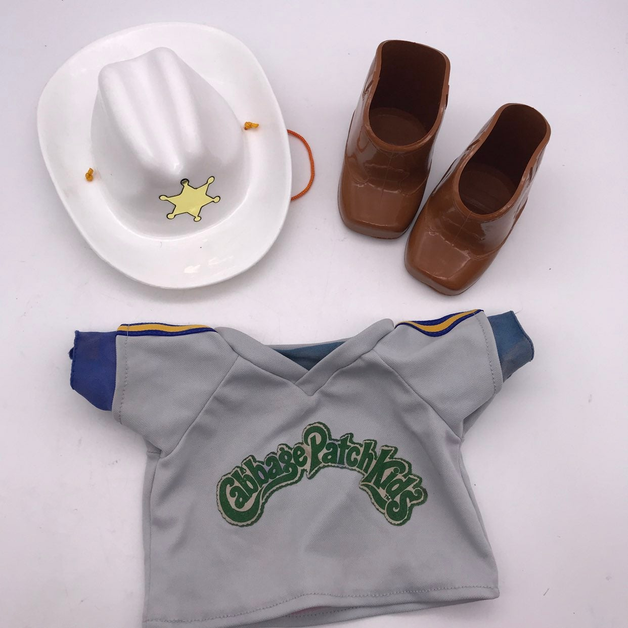 Cabbage patch kids cowboy boots and hat