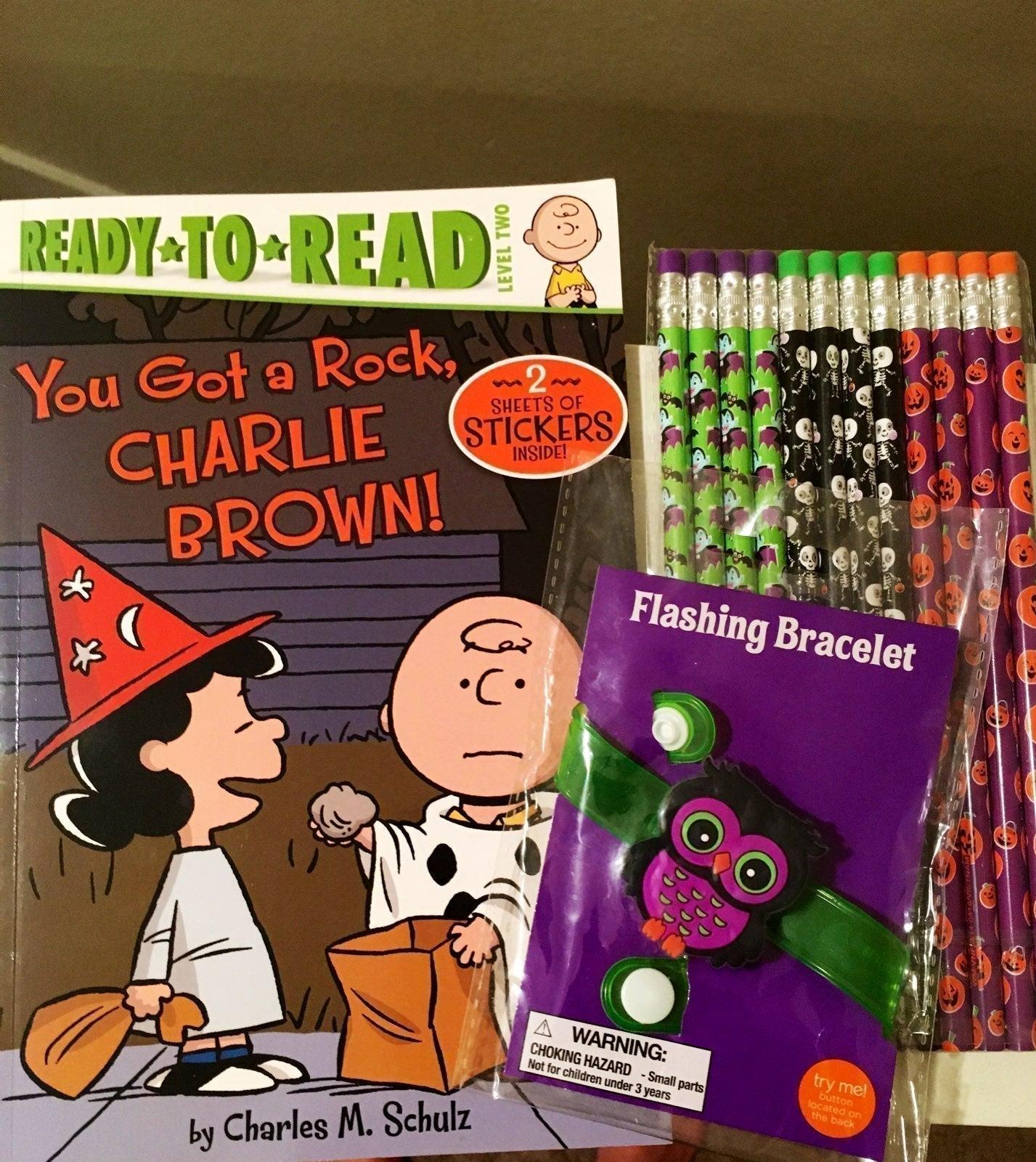 Kids Halloween Book bundle pencils owl
