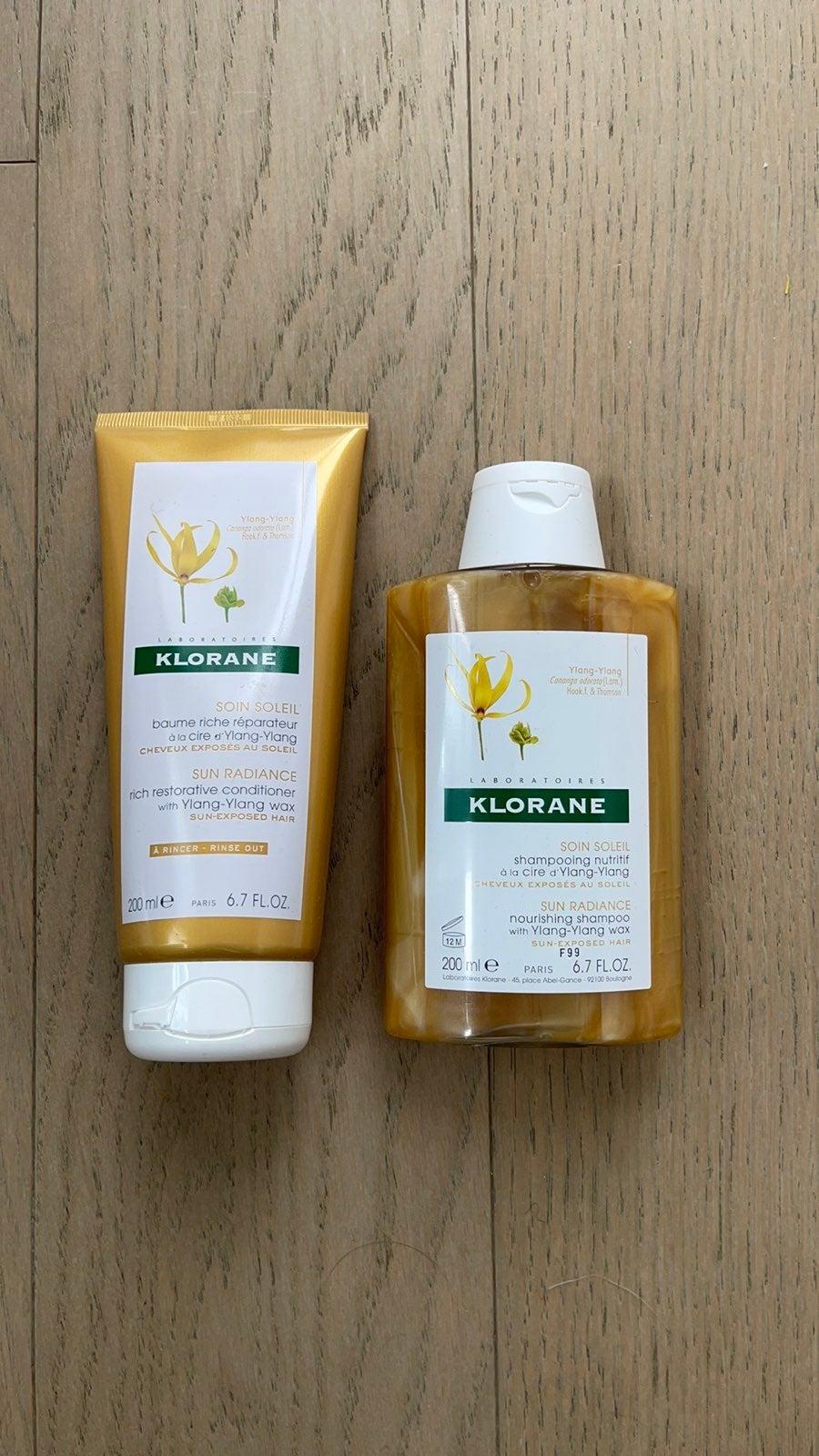 NWT Klorane Sun Radiance Shampoo Conditi