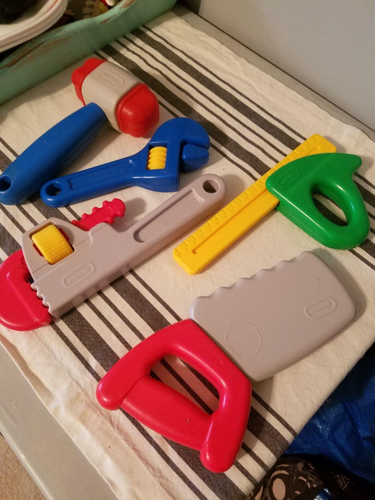 Vintage 5 pc Little Tikes Tool Set