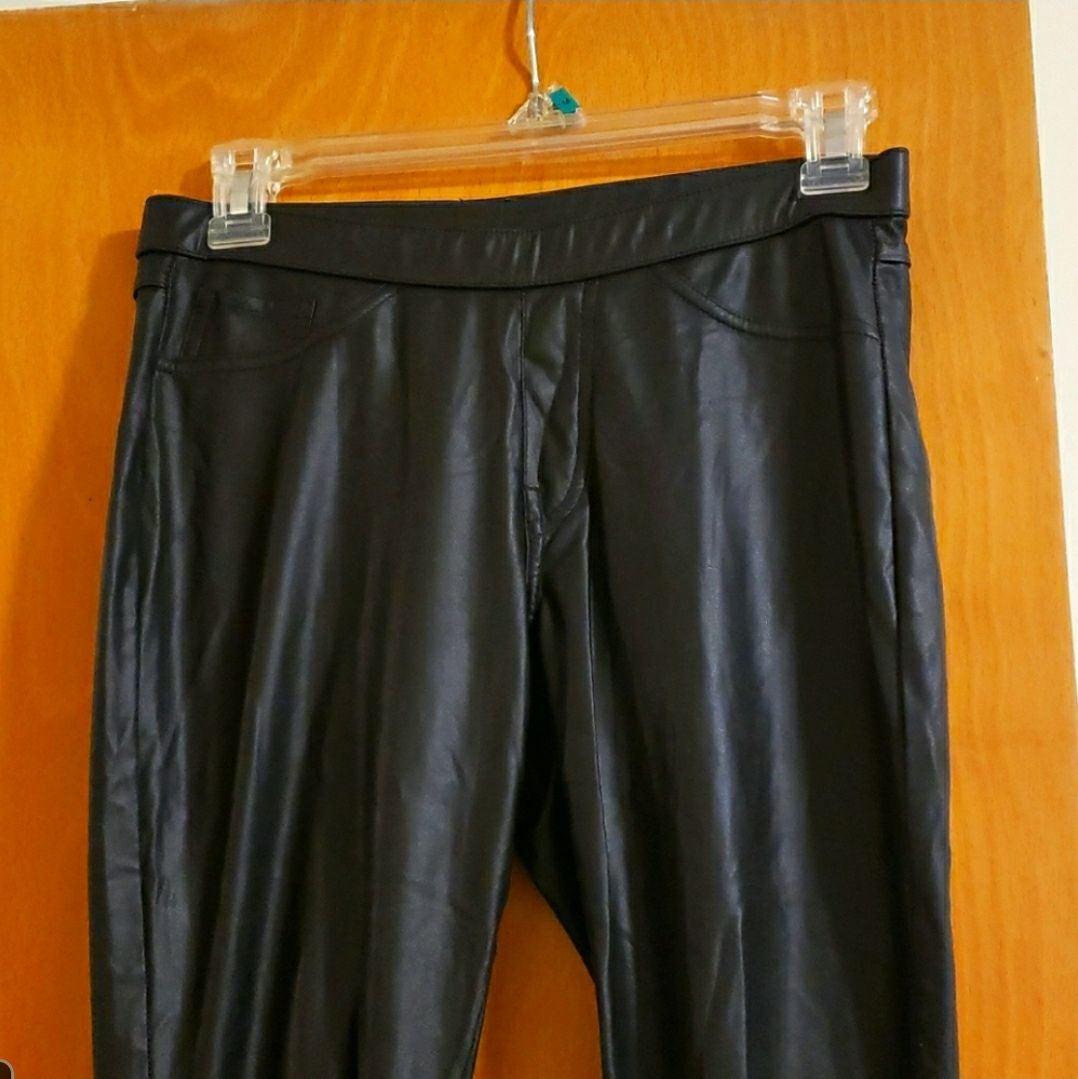 Faux matte leather leggings