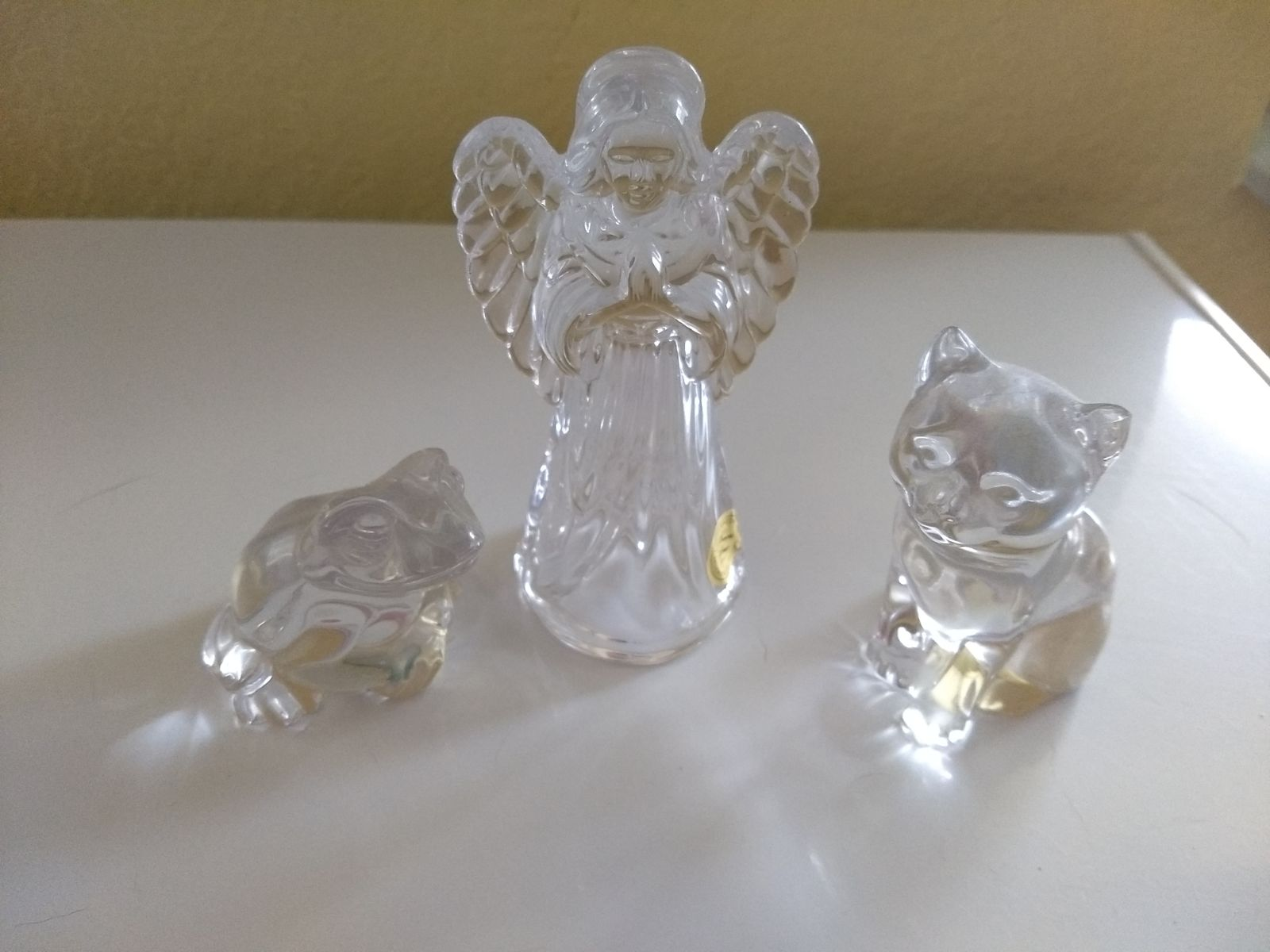 3 Piece Princess House Crystal Statues