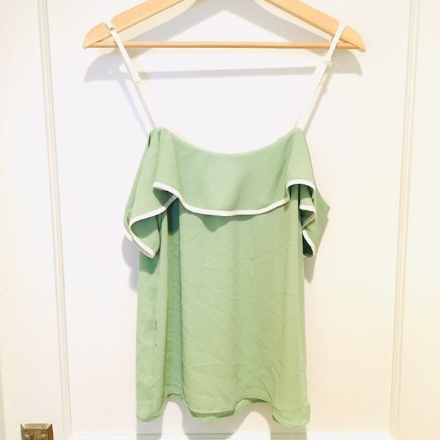 NWT Lovers + Friends Mint Off the Should