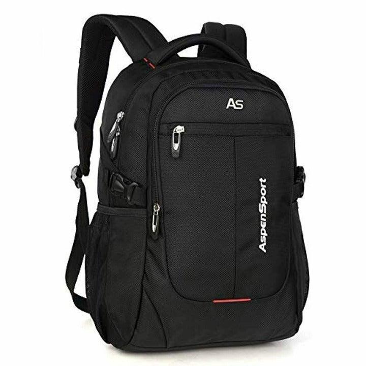 """ASPENSPORT Laptop Backpack 17""""-BLK"""