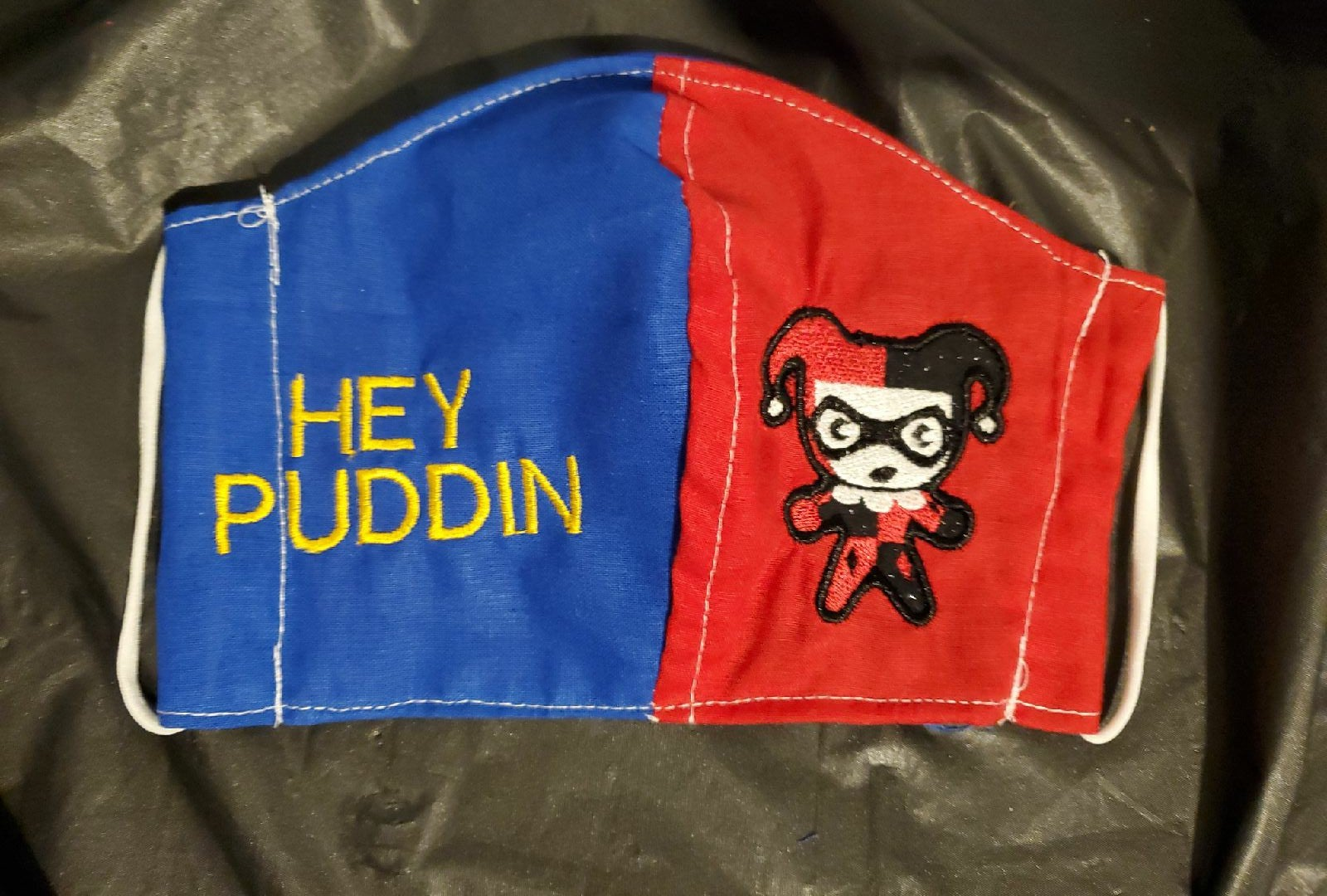 Hey puddin harlequinn fandom embroidered