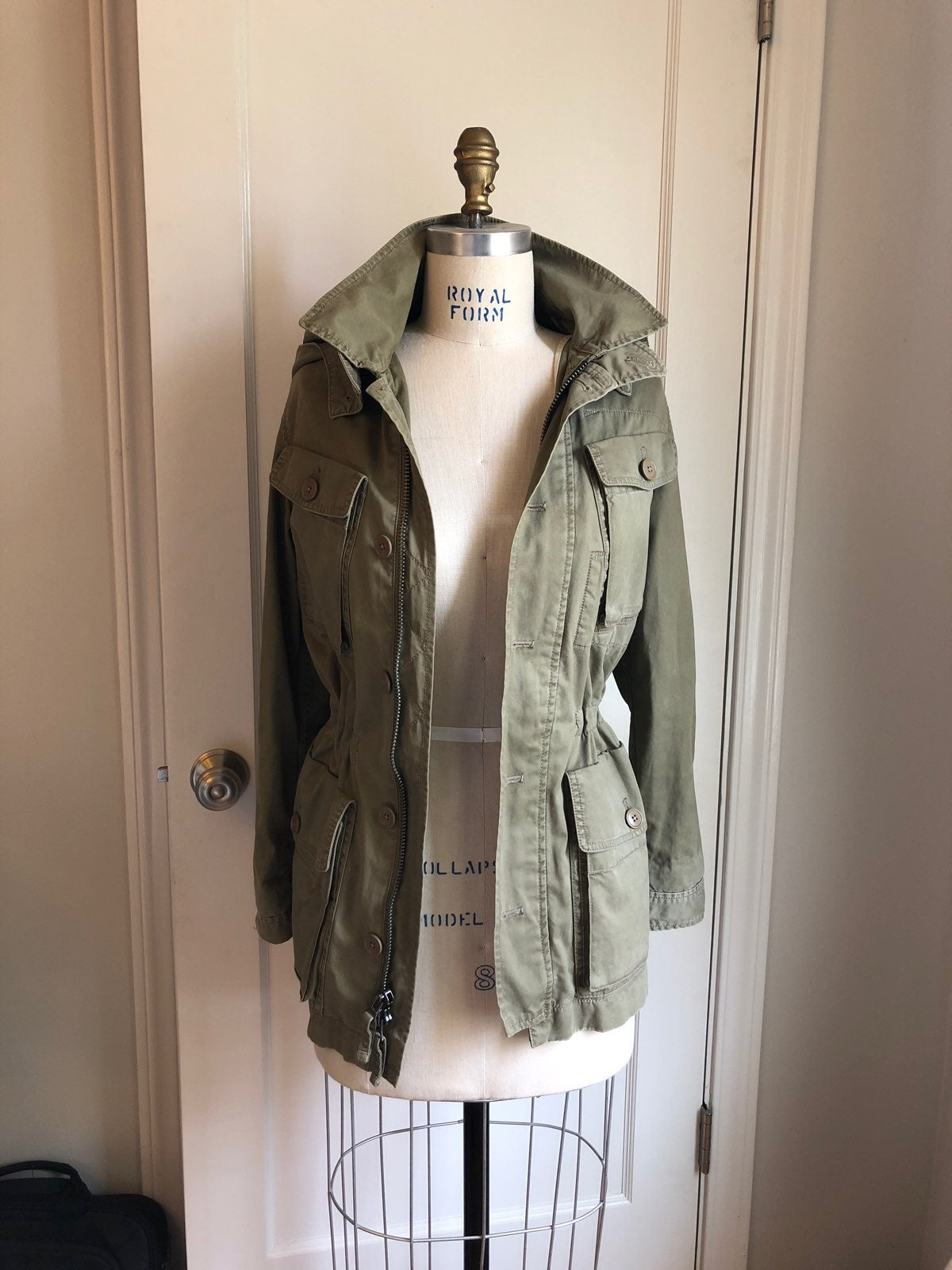 JCrew Hooded Army Green Military Jacket