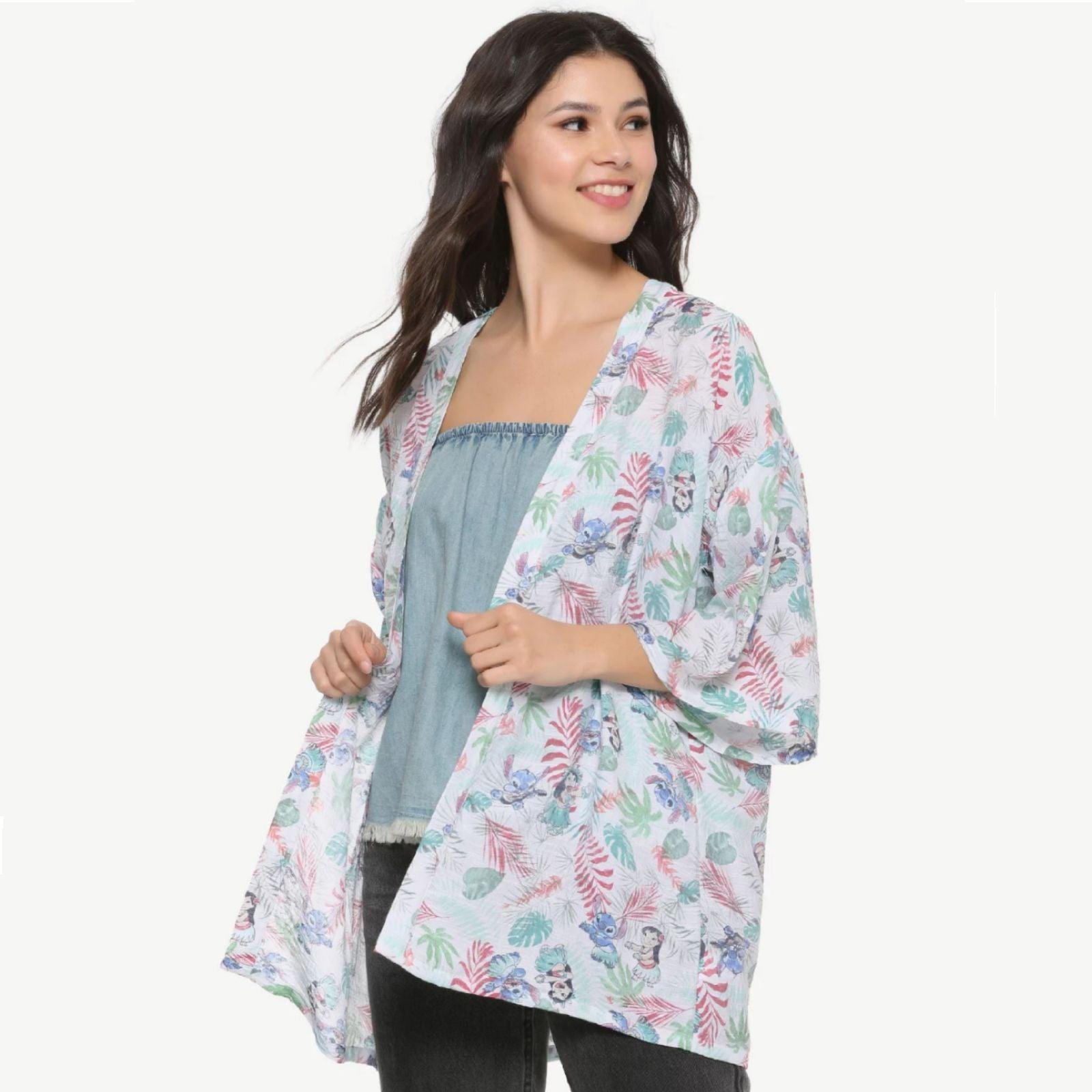 Disney Lilo & Stitch Botanical Kimono