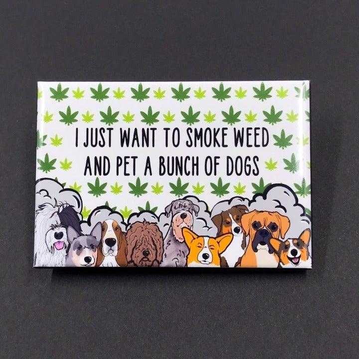 420 Weed & Dogs Cartoon Magnet Decor