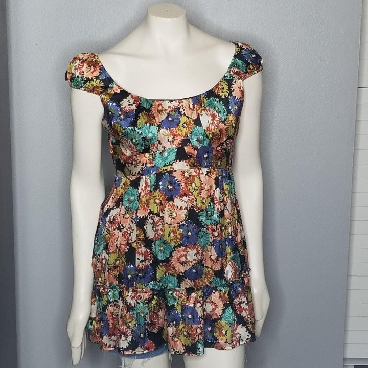 Nanette Lepore silk abstract floral mini