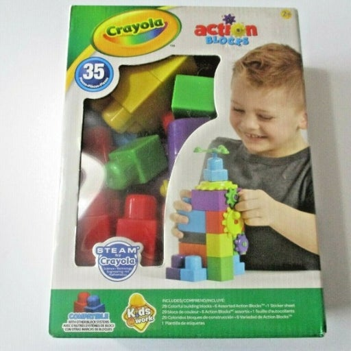 Crayola Building Blocks Kids Work 35 PCS