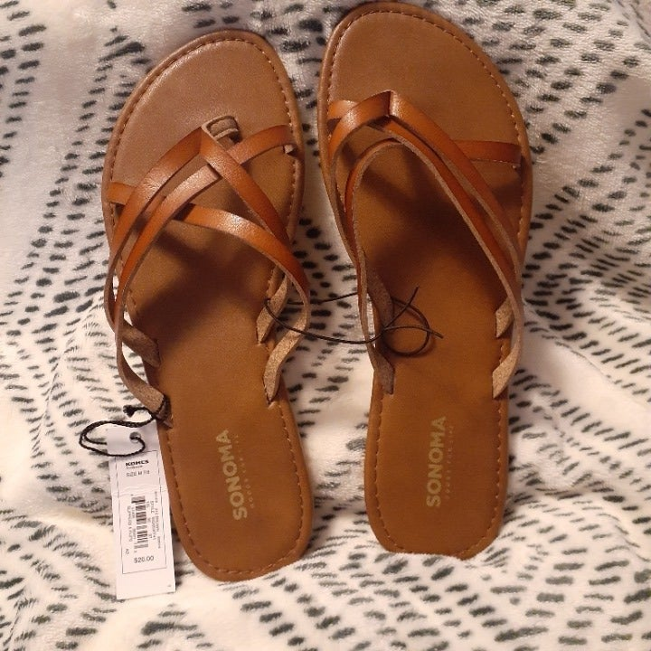 Sonoma Strappy Sandals Brown Sz Med 7-8