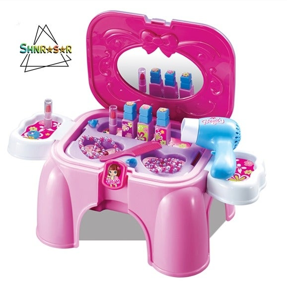 Pretend Play make up Toy Chair Set table