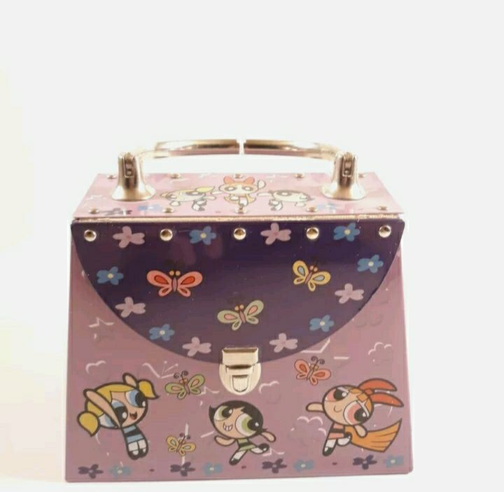 2001 The Powerpuff Girls Purse Tin carto