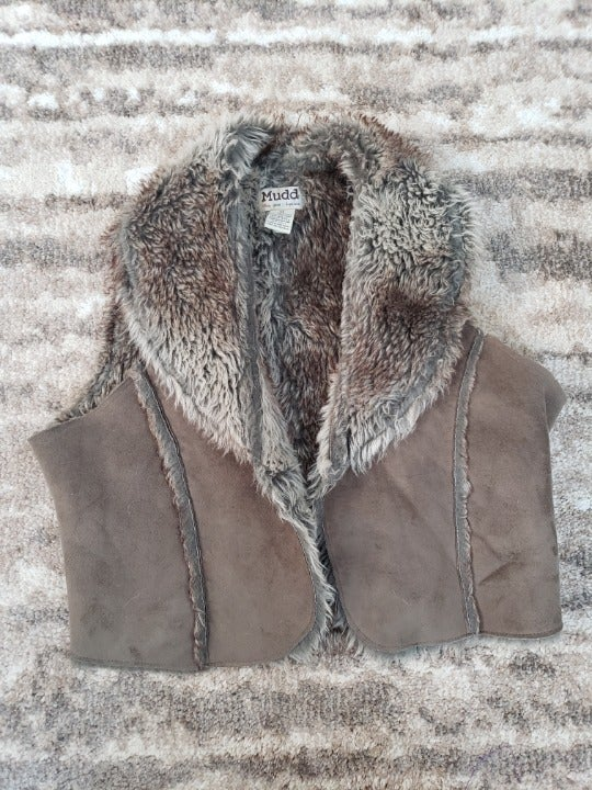 Mudd Faux Fur and Suede Vest
