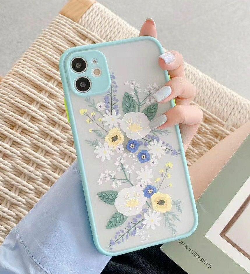 Iphone 12 Pro Max case Floral Matte