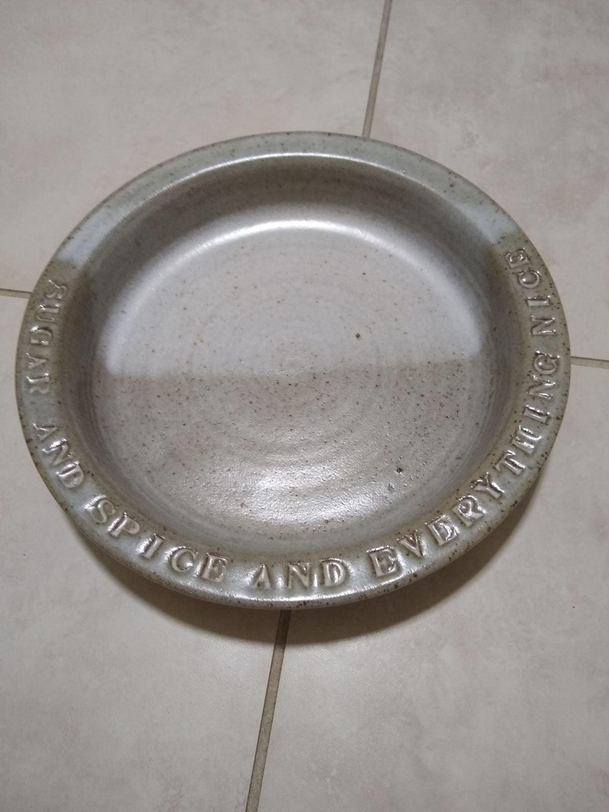 Handmade Ceramic Pie/Quiche Dish