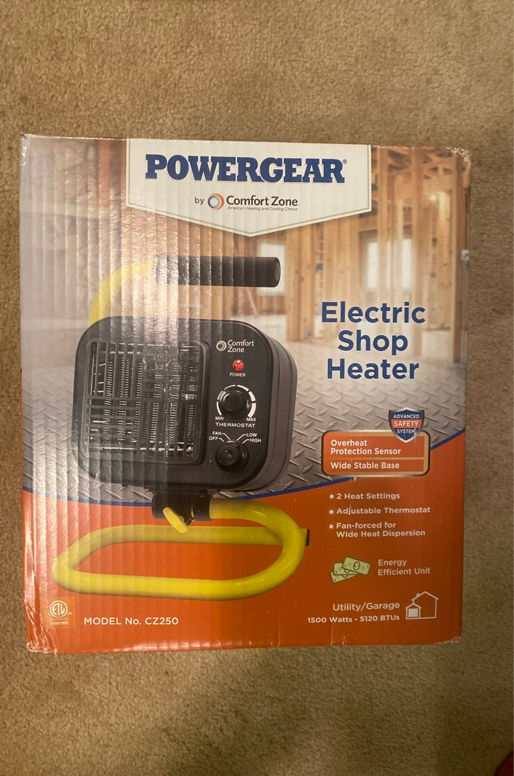 Powergear Electric Shop Heater Fan