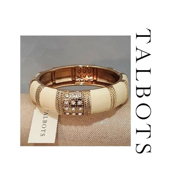 TALBOTS GOLD PLATED BEIGE BRACELET